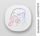 face cleaning brush app icon....