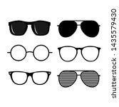 set of black sunglasses vector... | Shutterstock .eps vector #1435579430