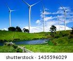 wind turbine farm power... | Shutterstock . vector #1435596029