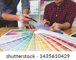 graphic designers choose colors ... | Shutterstock . vector #1435610429