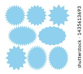 blue starburst speech bubbles... | Shutterstock .eps vector #1435613693