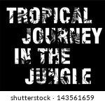 jungle text | Shutterstock .eps vector #143561659