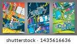back to school sale flyer... | Shutterstock .eps vector #1435616636
