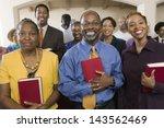 portrait of smiling african... | Shutterstock . vector #143562469