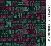 love pattern seamless   Shutterstock .eps vector #143562994