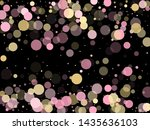pink gold confetti circle... | Shutterstock .eps vector #1435636103