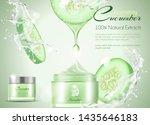 cucumber facial mask whitening...   Shutterstock .eps vector #1435646183
