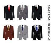 set of 6 illustration handsome... | Shutterstock .eps vector #143565493