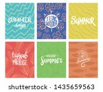 set of summer theme typography... | Shutterstock .eps vector #1435659563