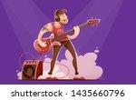 rock guitar player man in...