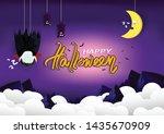 halloween  good night greeting... | Shutterstock .eps vector #1435670909
