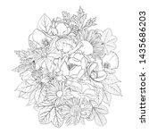 vector drawing flowers ... | Shutterstock .eps vector #1435686203