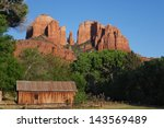 cathedral rock at sunset  ...   Shutterstock . vector #143569489