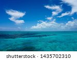 beautiful blue sky over clear... | Shutterstock . vector #1435702310