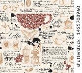 vector seamless pattern on tea...   Shutterstock .eps vector #1435703960