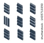 silhouettes of siding profiles... | Shutterstock .eps vector #1435713350