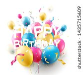 happy birthday greeting card... | Shutterstock .eps vector #1435715609