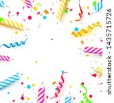 colorful sparkling candles on...   Shutterstock .eps vector #1435715726