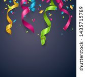 colorful confetti and streamers ...   Shutterstock .eps vector #1435715789