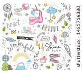 Set Of Cute Hand Drawn Doodles