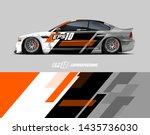car racing decal design concept....   Shutterstock .eps vector #1435736030