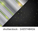 hi tech abstract silver... | Shutterstock .eps vector #1435748426