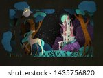book cover fairy tale... | Shutterstock .eps vector #1435756820