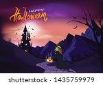 happy halloween  poster... | Shutterstock .eps vector #1435759979