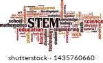 stem word cloud concept....   Shutterstock .eps vector #1435760660