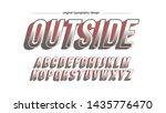 pastel cartoon artistic font... | Shutterstock .eps vector #1435776470