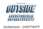 cartoon  blue artistic font... | Shutterstock .eps vector #1435776479