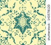 vector vintage damask seamless... | Shutterstock .eps vector #143578120