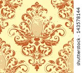 vector vintage damask seamless... | Shutterstock .eps vector #143578144