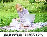 online or freelance career... | Shutterstock . vector #1435785890