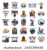 big set vintage print... | Shutterstock .eps vector #1435789640