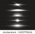white glowing light explodes on ... | Shutterstock .eps vector #1435795616