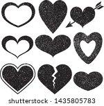 set of textured vector... | Shutterstock .eps vector #1435805783