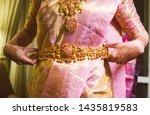 indian bridal wearing wedding... | Shutterstock . vector #1435819583