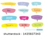 hand drawn set of speech... | Shutterstock .eps vector #1435837343