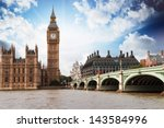the big ben  the houses of... | Shutterstock . vector #143584996