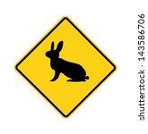 Road Sign   Rabbit Crossing ...