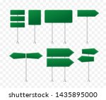 set of road signs isolated on... | Shutterstock .eps vector #1435895000
