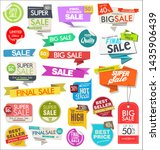 collection of colorful sale... | Shutterstock . vector #1435906439