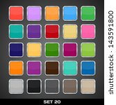 set of colorful app icon... | Shutterstock .eps vector #143591800