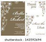 wedding or invitation card.... | Shutterstock .eps vector #143592694