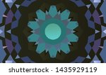 geometric design  mosaic of a... | Shutterstock .eps vector #1435929119