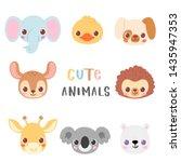 set of pretty little animal...   Shutterstock .eps vector #1435947353