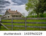 Abandoned Rural Farmhouse With...