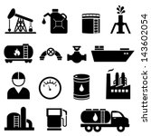 oil and petroleum icon set in...   Shutterstock .eps vector #143602054