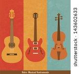 Retro Icons   Guitar Set